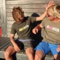 Organic Cotton T-shirt AWAYA logo. Comfot Fit