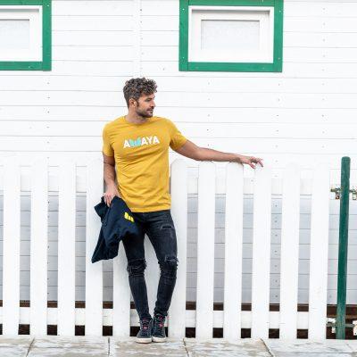 Heather Mustard Tshirt Awaya