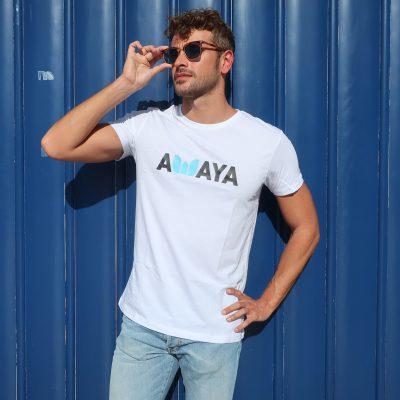 T-shirt White Logo Awaya